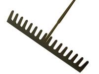 Roughneck ROU68510 Asphalt Rake 16 Flat Teeth - Tubular Steel Shaft Handled | Toolden