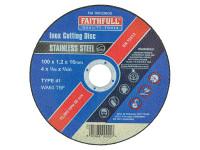 Faithfull FAI10012INOX Inox Cutting Disc 100 x 1.2 x 16mm