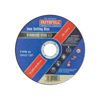 Faithfull FAI11512INOX Inox Cutting Disc 115 x 1.2 x 22.23mm