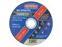 Faithfull FAI12512INOX Inox Cutting Disc 125 x 1.2 x 22.23mm