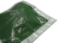 Faithfull FAITARP1812 Tarpaulin Green / Silver 5.4 x 3.6m (18 x 12ft)