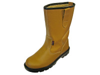Scan SCAFWTEXAS9 Texas Lined Tan Rigger Boots UK 9 Euro 43