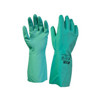 Scan SCAGLONITG Nitrile Gauntlets with Flock Lining Large (Size 9)