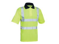 Scan SCAWWHVPSL Hi-Vis Yellow Polo Shirt - L (42in)