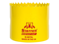 Starrett STRHS68AX FCH068M Fast Cut Bi-Metal Holesaw 68mm   Toolden