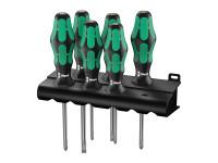 Wera WER105656 Kraftform Plus Lasertip 334/355/6 Screwdriver Set^ 6 Piece SL/PZ | Toolden