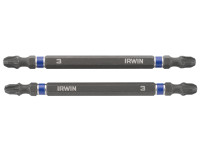 Impact Double Ended Screwdriver Bits Pozi PZ3 100mm Pack of 2 | Toolden