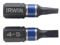 Impact Screwdriver Bits Slotted 4.5 x 25mm Pack of 2 | Toolden