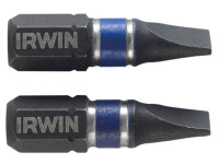 Impact Screwdriver Bits Slotted 5.5 x 25mm Pack of 2 | Toolden
