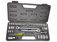 BlueSpot Tools B/S01746 Socket Set of 52 Metric & AF 1/4 3/8 & 1/2in Drive | Toolden