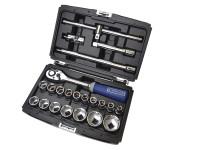 Britool Expert BRIE032900B Socket & Accessory Set of 22 Metric 1/2in Drive | Toolden