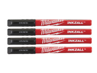 Milwaukee Hand Tools MHT48223164 INKZALL Ultra Fine Tip Pen Black (Pack of 4) | Toolden