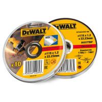 DeWalt DEWDT42335TZ Stainless Steel Metal Flat Cutting Discs 115mm Tin of 10    Toolden