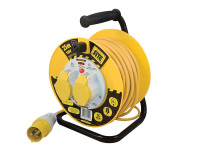 Masterplug MSTLVCT25162 Cable Reel 110V 16A Thermal Cut-Out 25m | Toolden