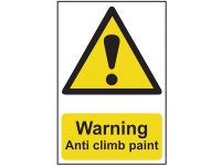 Scan SCA1113 Warning Anti Climb Paint - PVC 200 x 300mm | Toolden