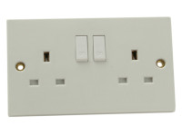 SMJ SMJW2GSSC Switched Socket 2-Gang 13A Clam Pack | Toolden