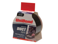 Unibond UNI1517009 Duct Tape Black 50mm x 25m | Toolden