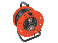 Faithfull Power Plus FPPCR50M Open Drum Cable Reel 240V 13A 2-Socket 50m | Toolden