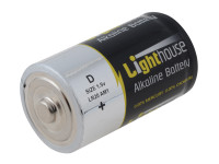 Lighthouse L/HBATD D LR20 Alkaline Batteries 14800 mAh (Pack 2) | Toolden