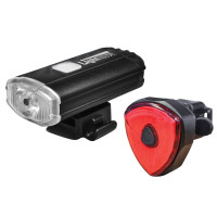 Lighthouse L/HEBIKEFRR Elite Rechargeable LED Bike Light Set | Toolden