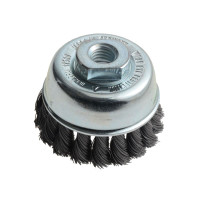 Lessmann LES482117 Knot Cup Brush 65mm M14 x 0.35 Steel Wire | Toolden