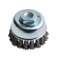Lessmann LES482217 Knot Cup Brush 65mm M14 x 0.50 Steel Wire | Toolden
