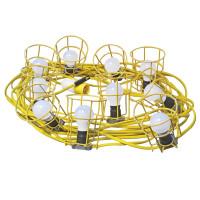 Faithfull Power Plus FPPSLFESTOON Festoon Lights 10 ES Bulbs 110V 22m | Toolden