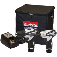 Makita DK1493WX 10.8v Lithium-Ion Cordless Combi Drill and Impact Driver Set  | Toolden