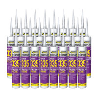 Everbuild 335 Construction Silicone White 295ml 25 Tubes  | Toolden