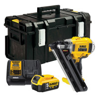 DeWalt DCN692P2 Brushless Cordless First Fix Framing Nailer Kit with 2 x 5.0Ah Batteries from Toolden