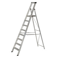 Youngman 30831218 Platform Stepladder 8 Tread Builders Step Ladder | Toolden