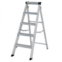 Youngman 30599618 Stepladder 5 Tread Builders Step Ladder | Toolden