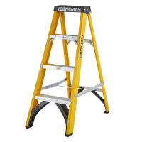 Youngman 52744418 S400 Fibreglass Stepladder 4 Tread Step Ladder | Toolden