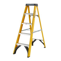 Youngman 52745518 S400 Fibreglass Stepladder 5 Tread Step Ladder | Toolden