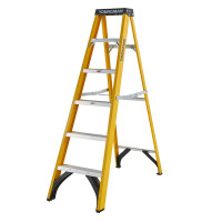 Youngman 52744618 S400 Fibreglass Stepladder 6 Tread Step Ladder | Toolden