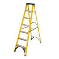 Youngman 52745718 S400 Fibreglass Stepladder 7 Tread Step Ladder | Toolden