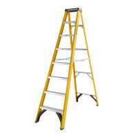 Youngman 52744818 S400 Fibreglass Stepladder 8 Tread Step Ladder | Toolden