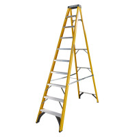 Youngman 52745018 S400 Fibreglass Stepladder 10 Tread Step Ladder | Toolden