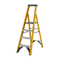 Youngman 52745418 S400 Fibreglass Platform Stepladder 4 Tread Step Ladder | Toolden