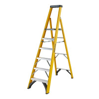 Youngman 52745618 S400 Fibreglass Platform Stepladder 6 Tread Step Ladder | Toolden