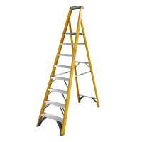 Youngman 52745818 S400 Fibreglass Platform Stepladder 8 Tread Step Ladder | Toolden