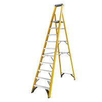 Youngman 52746018 S400 Fibreglass Platform Stepladder 10 Tread Step Ladder | Toolden