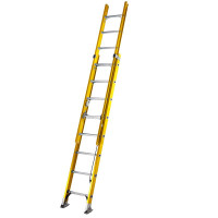 Youngman 52780800 S200 Fibreglass Trade 2 Section Extension Ladder 2.45m | Toolden