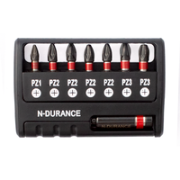 N-Durance Pozi Impact Bit Set With Magnetic Bit Holder
