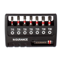 N-Durance Torx Impact Bit Set With Magnetic Bit Holder