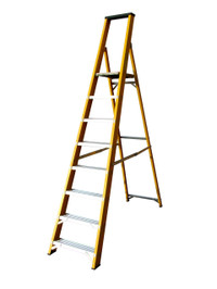 Lyte GFBP8 8 Tread Fibreglass Ladder from Toolden