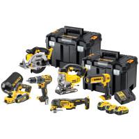 DeWalt DCK665P3T 18V XR 6 Piece Power Tool kit 3x 5.0Ah Battery from Toolden