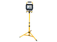 Faithfull Power Plus COB LED Single Pod Tripod Site Light 2100 Lumen 30 Watt 240 Volt from Toolden.