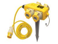 Faithfull Power Plus Power Block 4 Way Distribution Box 110 Volt 16 Amp   Toolden