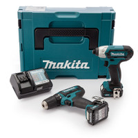 Makita CLX201AJ 10.8V Twin Pack With Drill Driver & Impact from Toolden